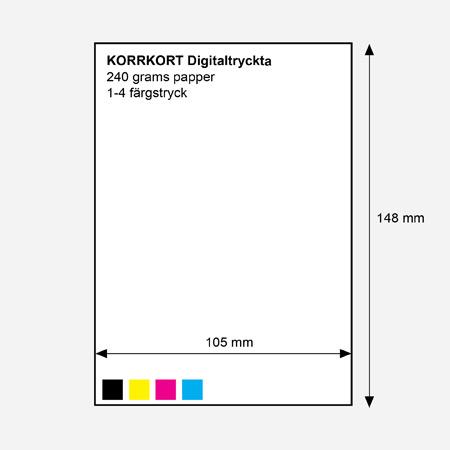 300 g, A6 (148 x 105 mm) 100 st./ förpackning