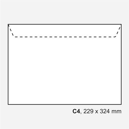 Standardkuvert, 100 st/ förpackning