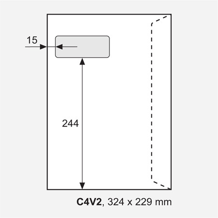 Fönsterkuvert, 100 st/ förpackning