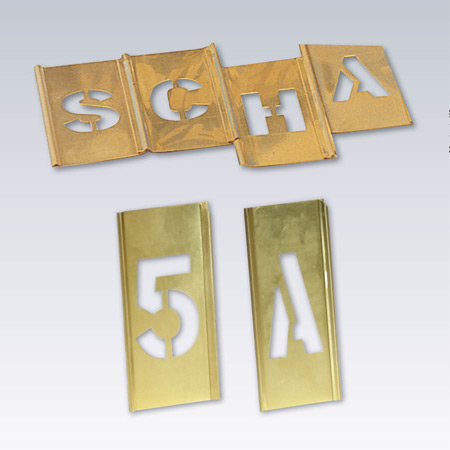 Schabloner alfabet - siffror